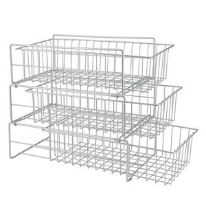 Metaltex Tris Storage Bastket - Steel - Gray