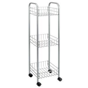 Metaltex Toronto Rolling Cart - 3-Tier - Gray