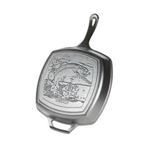 Lodge Cast Iron Wildlife Square Fish Gril Pan - 10.5-in.