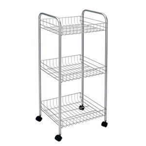 Metaltex Montreal Cart - 3-Tier - Gray