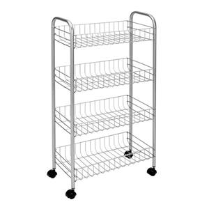 Metaltex Ascona Rolling Cart - 4-Tier - White