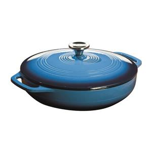 Lodge Enamel Casserole - 3 qt. - Blue