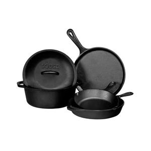 Lodge Cast Iron Cookware Set - 5-Piece