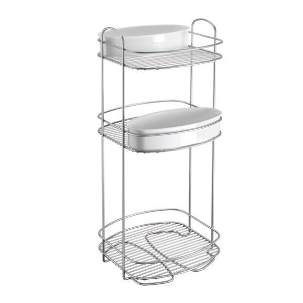 Metaltex Orbit 3-Tier Storage Rack - Metal - White