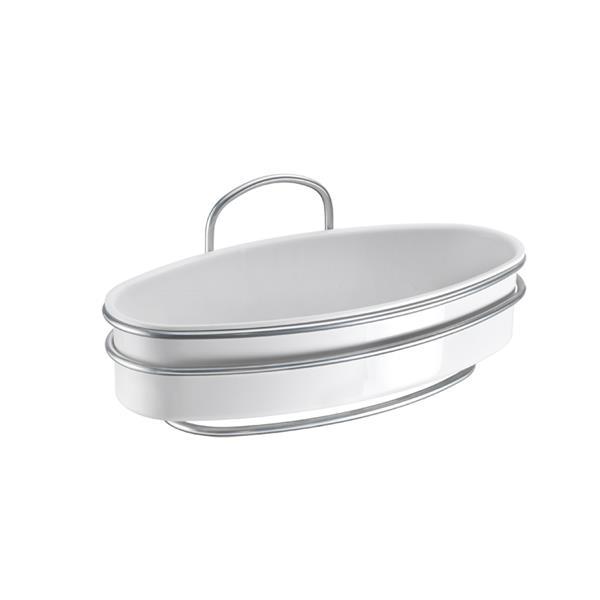 Metaltex Orbit 1-Tier Oval Shelf - Metal - White