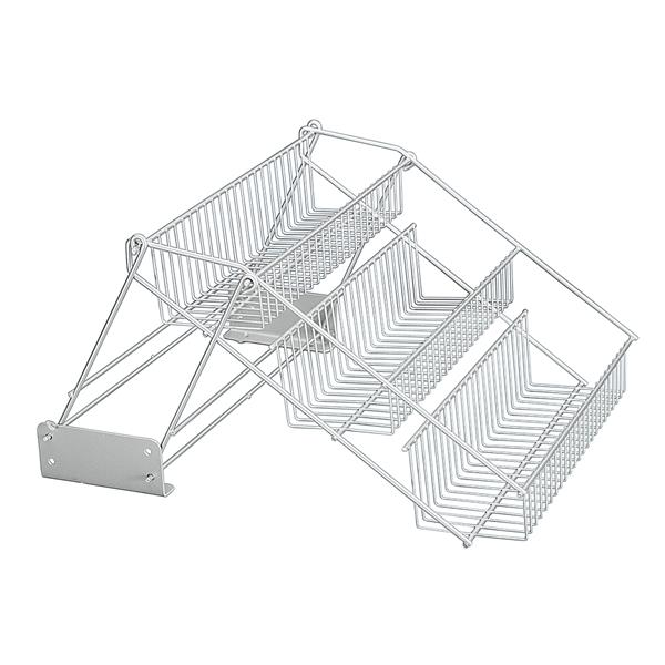 Panier de rangement Up & Down de Metaltex, acier, gris