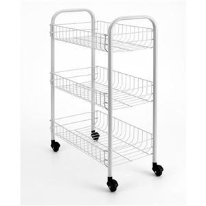 Metaltex Siena Rolling Cart - 3-Tier - White