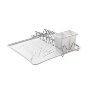 Metaltex Spacetex Compact Dish Drainer - Plastic and Metal - White