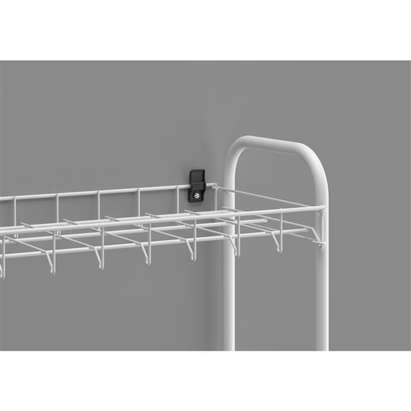 Metaltex Scarpa 8-Tier Shoe Rack - 64.96-in - Metal - White