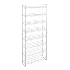 Metaltex Scarpa 8-Tier Shoe Rack - 64.96-in - Metal - White