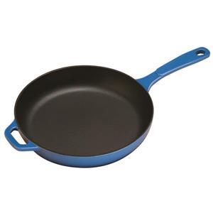 Poêle à frire en fonte émaillée Lodge, 11 po, bleu