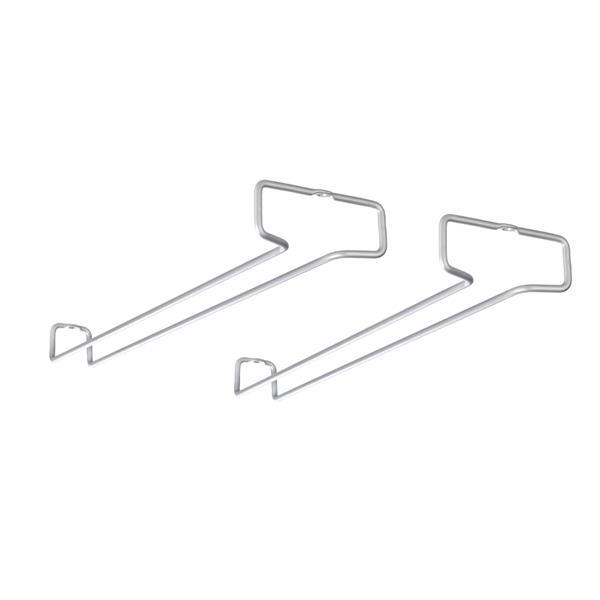 Metaltex Rail41 Wine Glass Rails - Metal - Gray - Set of 2