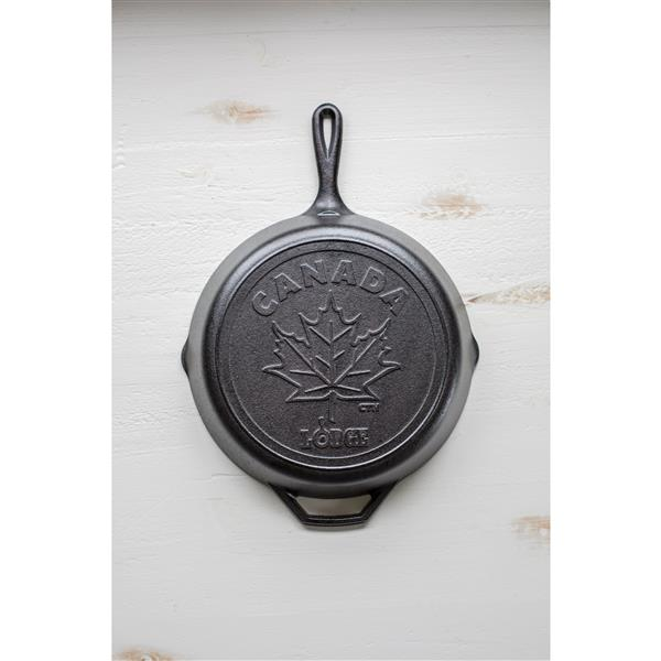 Lodge Canadiana Series Cast Iron Skillet with Maple Leaf Scene - 12-in.