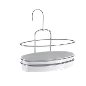Metaltex Orbit 1-Tier Shower Caddy - Gray