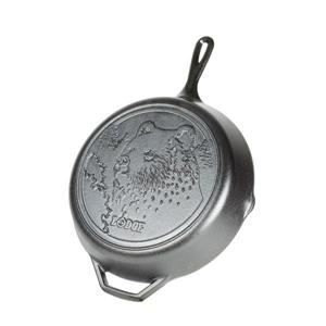 Lodge Wildlife Cast Iron Bear Skillet - 12-in.