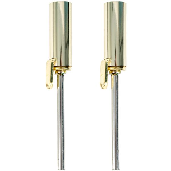 Ideal Security Hinge Pin Door Closer - Polished Brass - 2/Pack