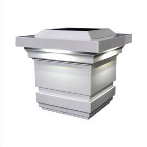 Classy Caps Classy Solar Post Cap - PVC - 4-in x 4-in - White