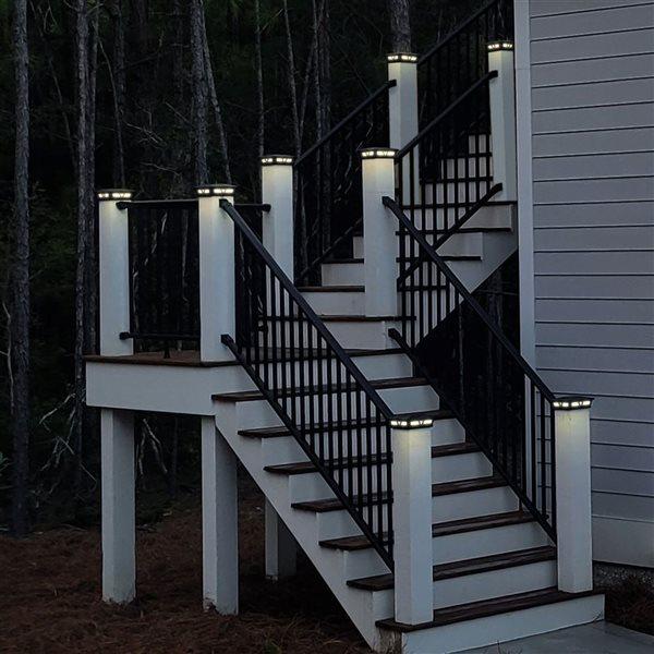 Capuchon solaire de poteau Oxford de Classy Caps, aluminium, 6 po x 6 po, noir