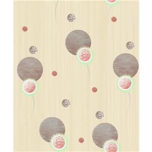 Dundee Deco Falkirk Ophia Wallpaper Roll - Spheres - Tan and Brown