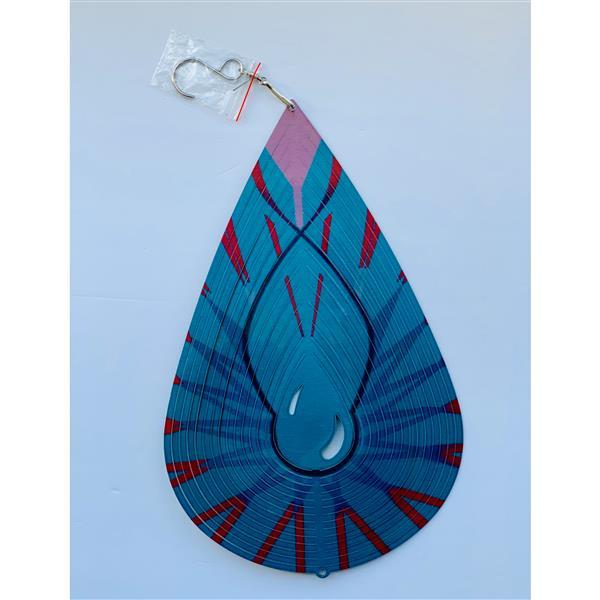 Dundee Deco Falkirk Wind Spinner - Rain Drop - Blue