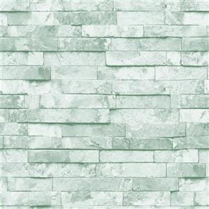 Dundee Deco Falkirk Ophia Wallpaper Roll - Retro Slate - White
