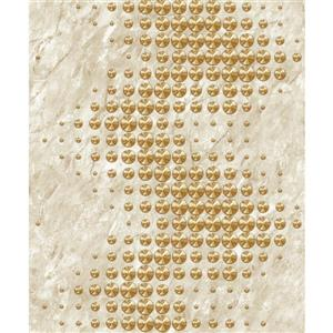 Dundee Deco Falkirk Ophia Wallpaper Roll - Circles - Gold and Beige