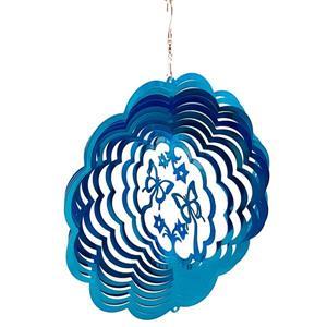 Dundee Deco Falkirk Wind Spinner - Butterflies - Blue