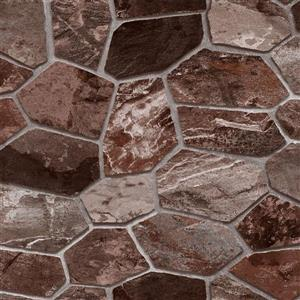 Dundee Deco Falkirk Ophia Wallpaper Roll - Stone - Brown