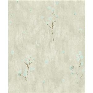 Dundee Deco Falkirk Ophia Wallpaper Roll - Flowers - Light Green