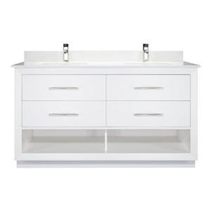 Meuble-lavabo Reynaldo, 60 po, blanc