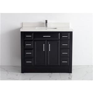 Spa Bathe Calumet Vanity and Sink - 42-in. - Quartz Top - Espresso
