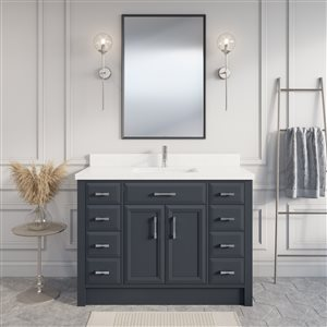 Spa Bathe Calumet Vanity and Sink - 48-in. - Quartz Top - Pepper Grey