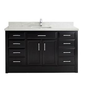 Spa Bathe Calumet Vanity and Sink - 60-in. - Quartz Top - Espresso