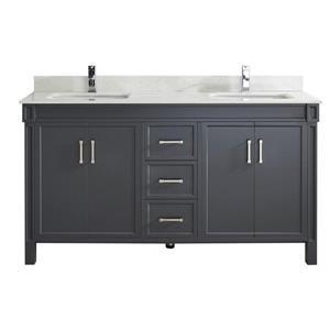 Meuble-lavabo Sedona, 63 po, gris poivre