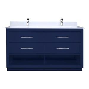 Meuble-lavabo Reynaldo, 60 po, bleu marin