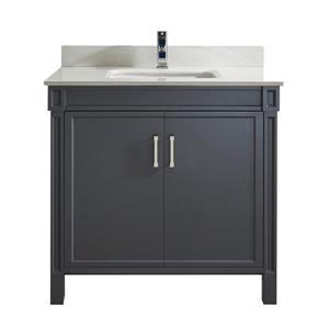 Meuble-lavabo Sedona, 36 po, gris poivre