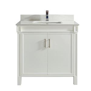 Meuble-lavabo Sedona, 36 po, blanc