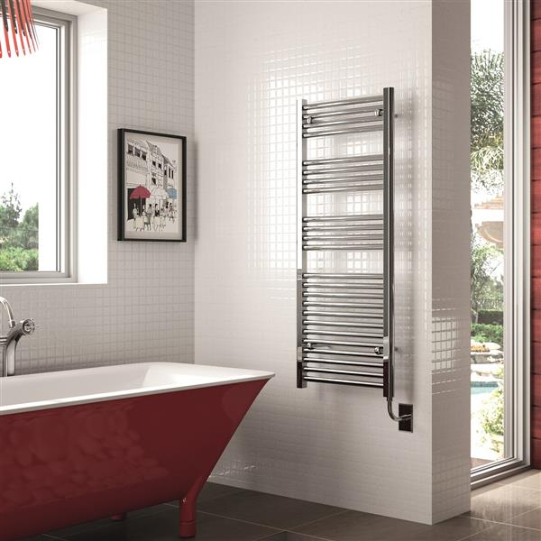 American Towel Rack Premier Straight Electric Towel Warmer - Polished Chrome - 47.25-in x 23.62-in