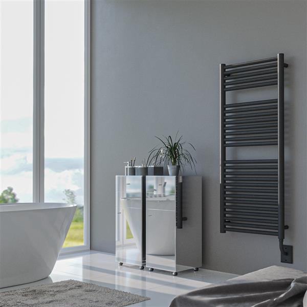 American Towel Rack Hercules Electric Towel Warmer - Black/Anthracite - 39.37-in x 29.21-in