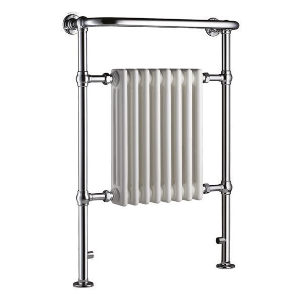 Chauffe-serviette/radiateur électrique Taurus Columbine d'American Towel Rack, blanc/chrome poli, 36,22 po x 26,18 po