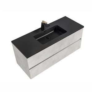 GEF Sadie Bathroom Vanity - Quartz Top - 48-in - Grey