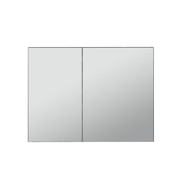 GEF Ember Bathroom Vanity with Medicine Cabinet - Acrylic Top - 36-in - Grey