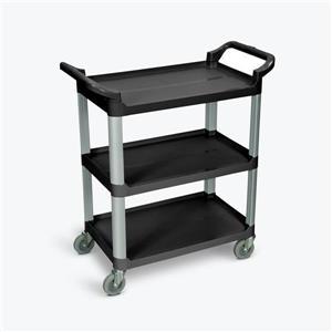 Luxor Serving Cart - Three Shelves - Black