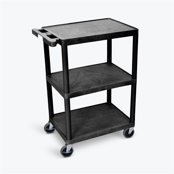 Luxor 3 Shelf Utility Cart 24 In X 18 In Black He34 B Rona