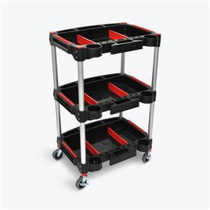 Luxor Mechanic's Three-Shelf Cart - Black