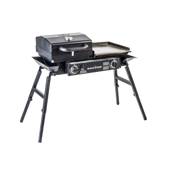Blackstone Tailgater 2-Burner Propane Gas Griddle Grill with Stove