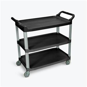 Luxor Large Serving Cart - Three Shelves - Black