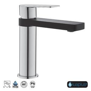 Robinet de lavabo IRA akuaplus® à 1 levier, chrome et noir mat