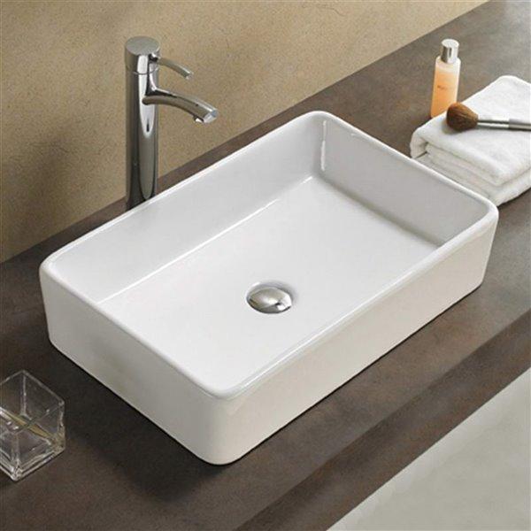 American Imaginations Vessel Sink - 24-in - White