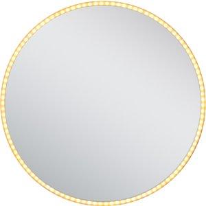 Miroir rétroéclairé à DEL rond de American Imaginations, 24 po, aluminium